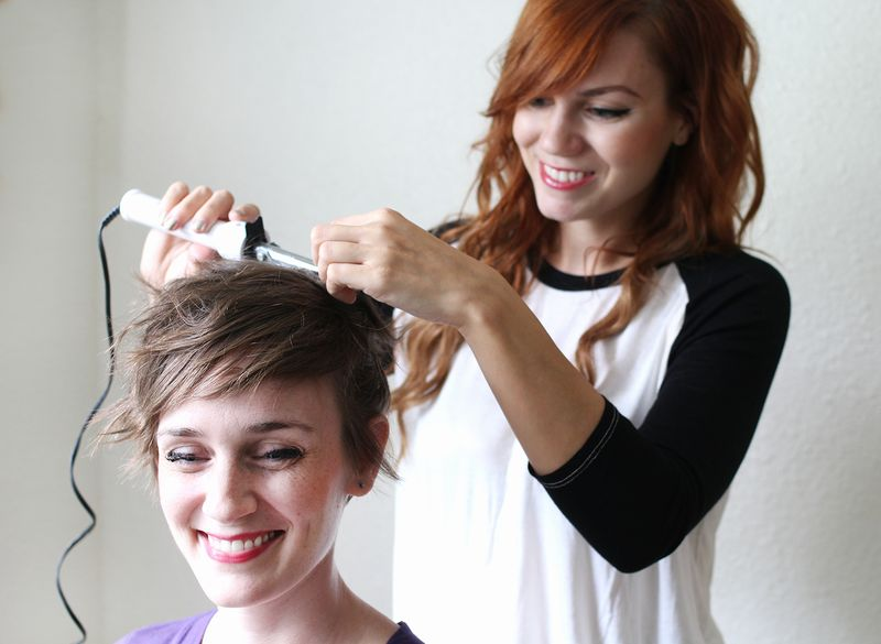 Use a small curling iron or wand to create texture