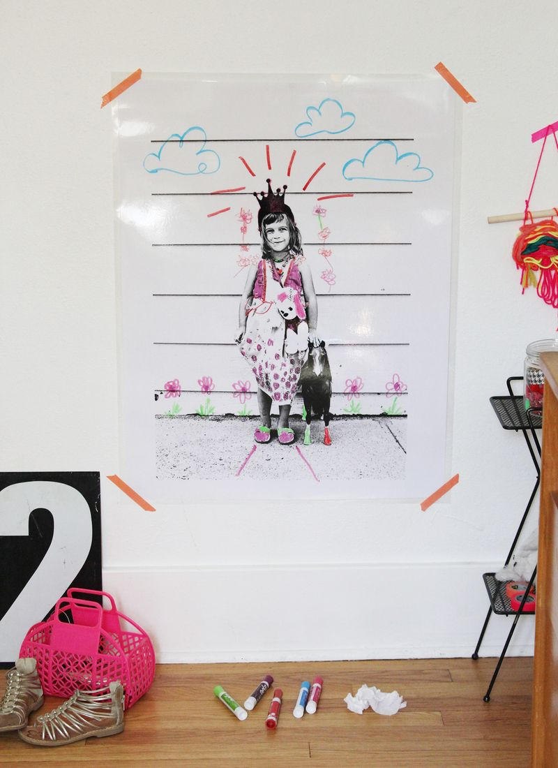 Dry Erase Wall Art DIY
