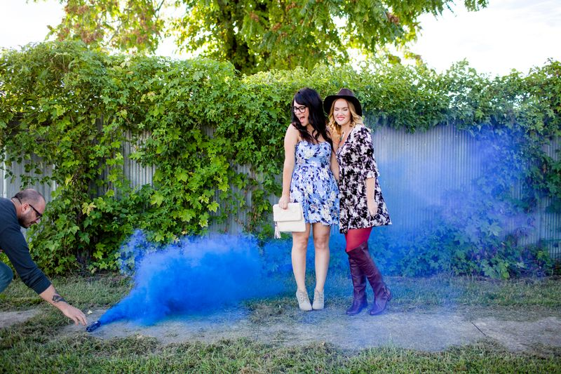 Behind the scenes of playing with smoke bombs