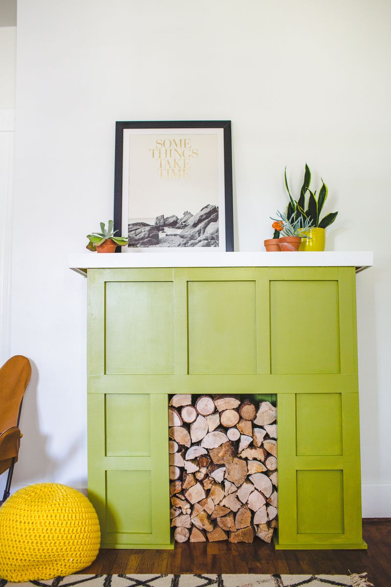 Try This A Faux Fireplace A Beautiful Mess