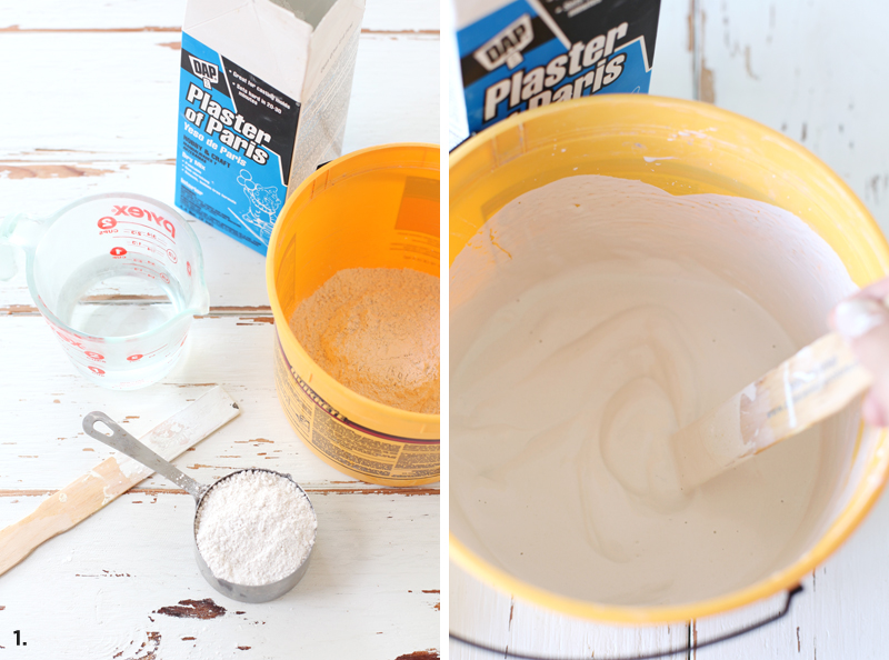 how to use plaster of paris on wood