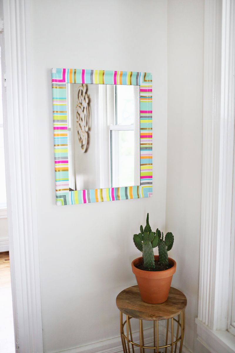Try This: Washi Tape Mirror Frame - A Beautiful Mess