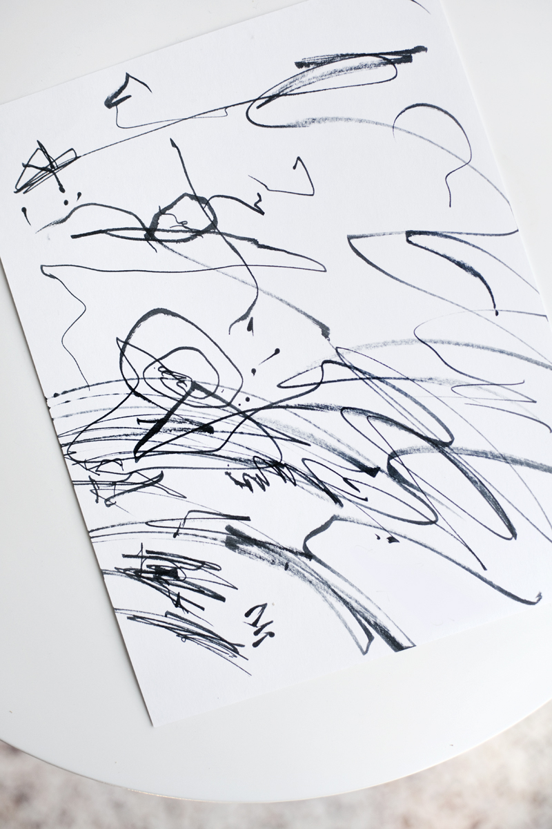 try this transform kiddo scribbles into modern art u2013 a beautiful mess