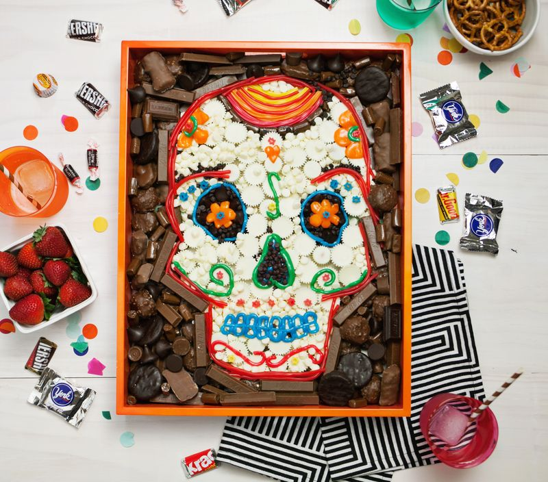 Day of the dead skullmade out of candy!
