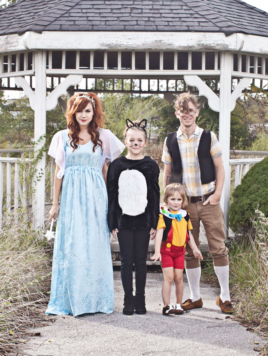 pinocchio themed family costume a beautiful mess. Black Bedroom Furniture Sets. Home Design Ideas