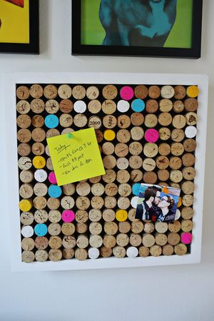 Try This: Wine Cork Bulletin Board
