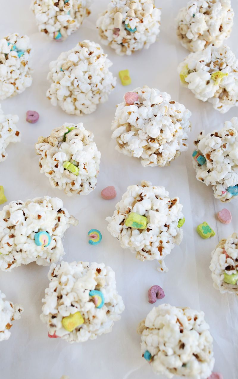 Breakfast cereal popcorn balls