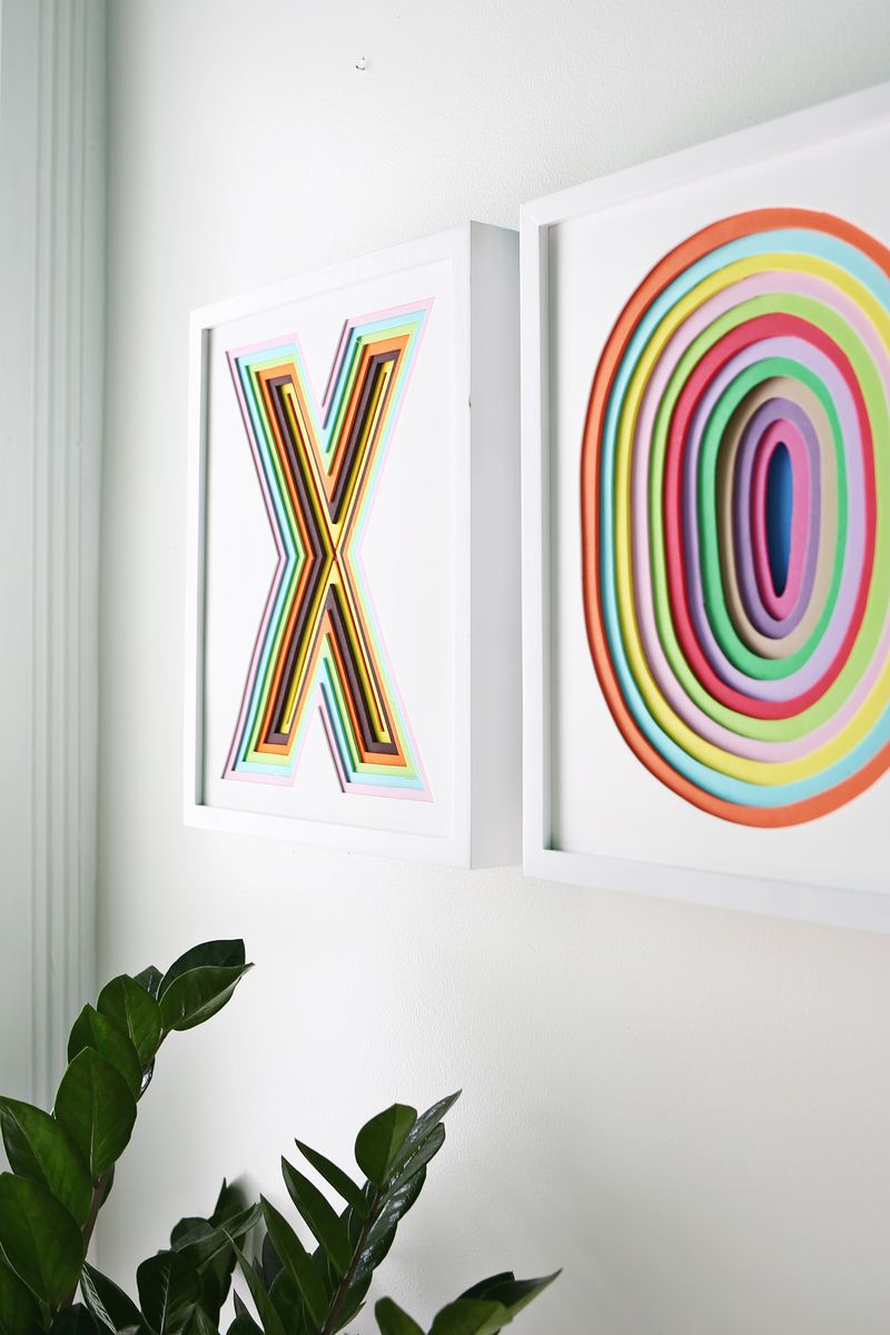 Create Colorful Wall Art with Foam - A Beautiful Mess