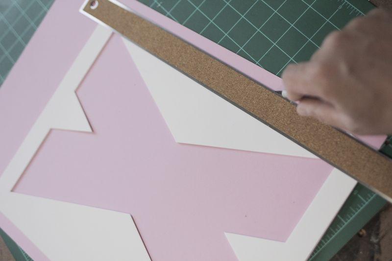 Create colorful wall art using layered foam sheets