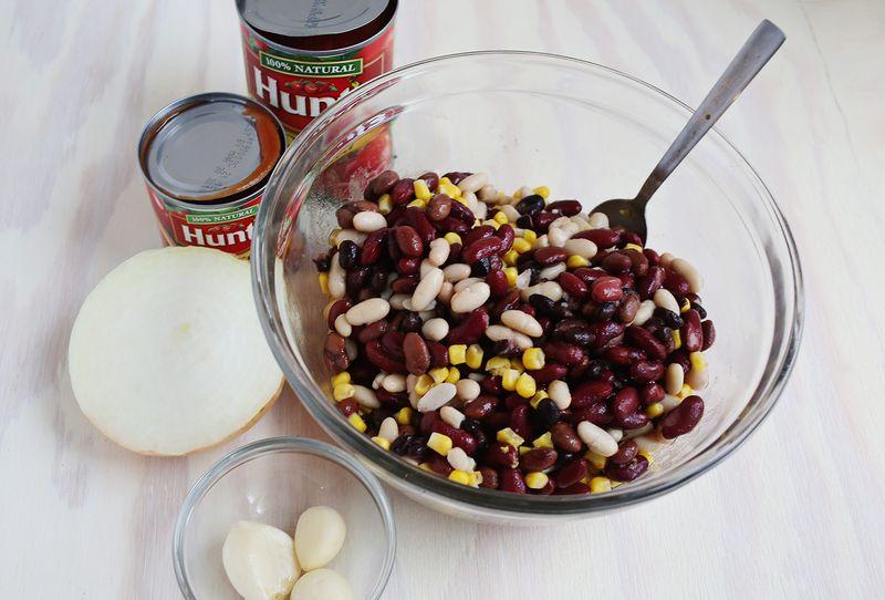Ingredients for vegetarian chili