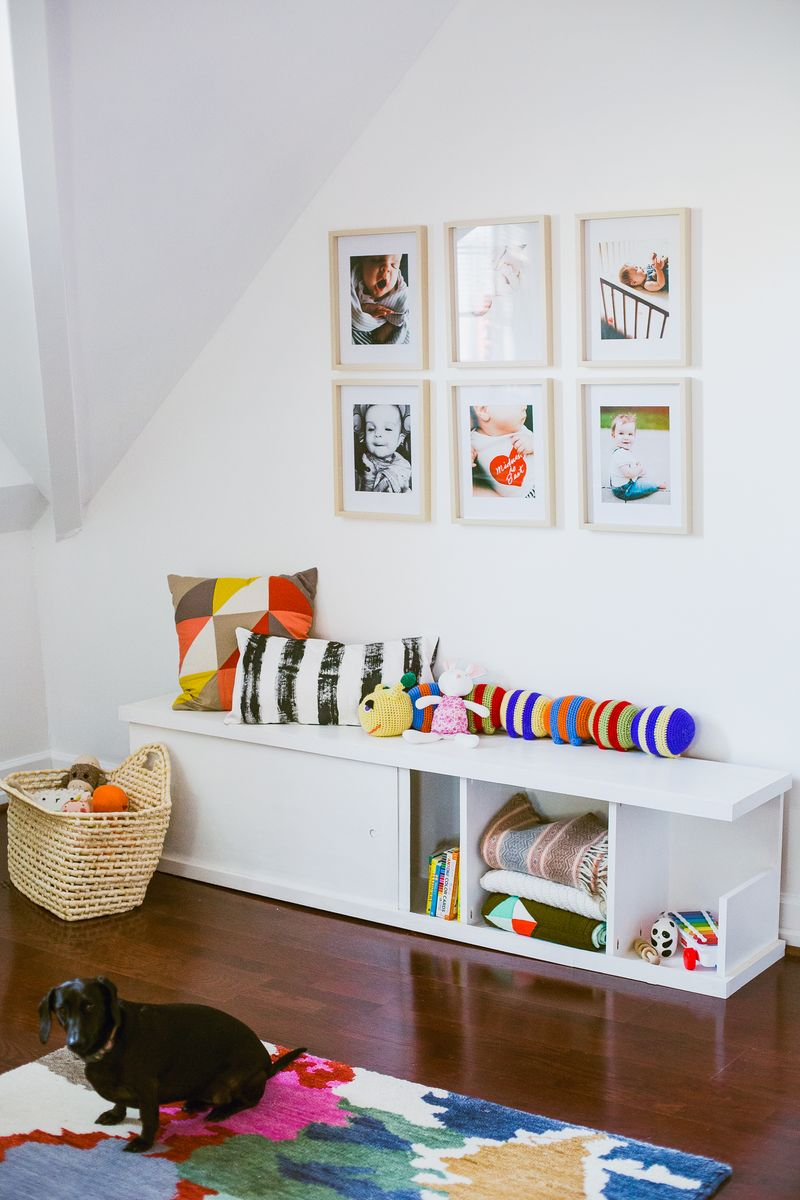 Make a nursery bench:storage with one sheet of plywood
