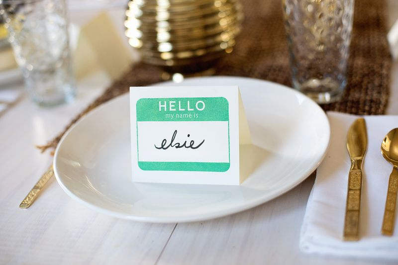 Try this stamped name tag place cards a beautiful mess for How to use table tag in html
