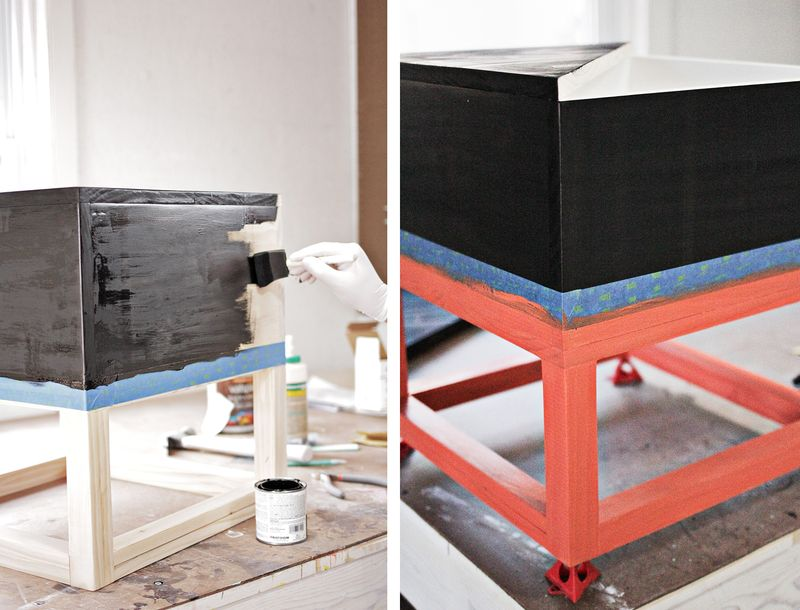 Wood-end-tables-cubed-painting-(click-to-learn-how-I-made-them)