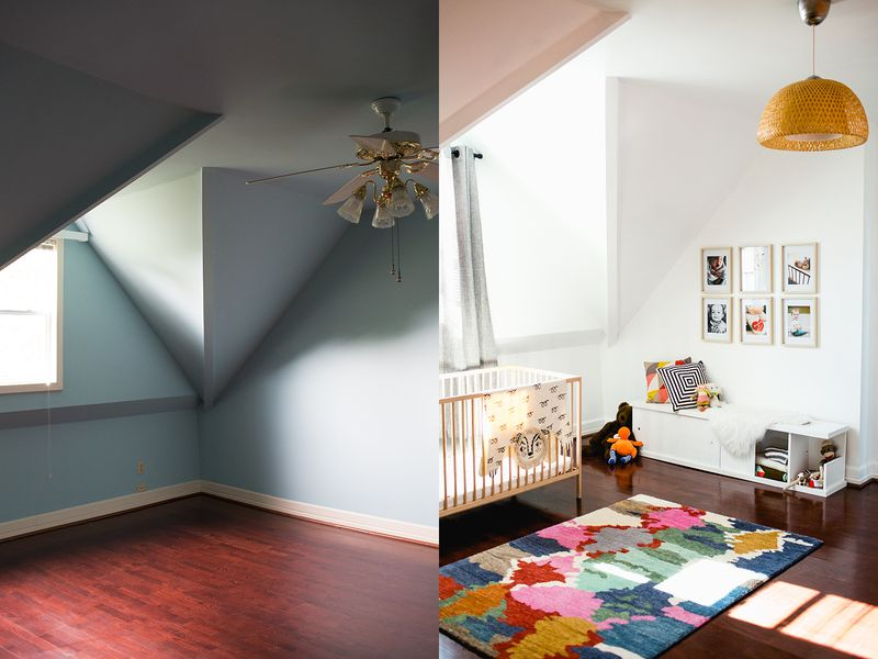 Sarah's nursery tour- before and after!