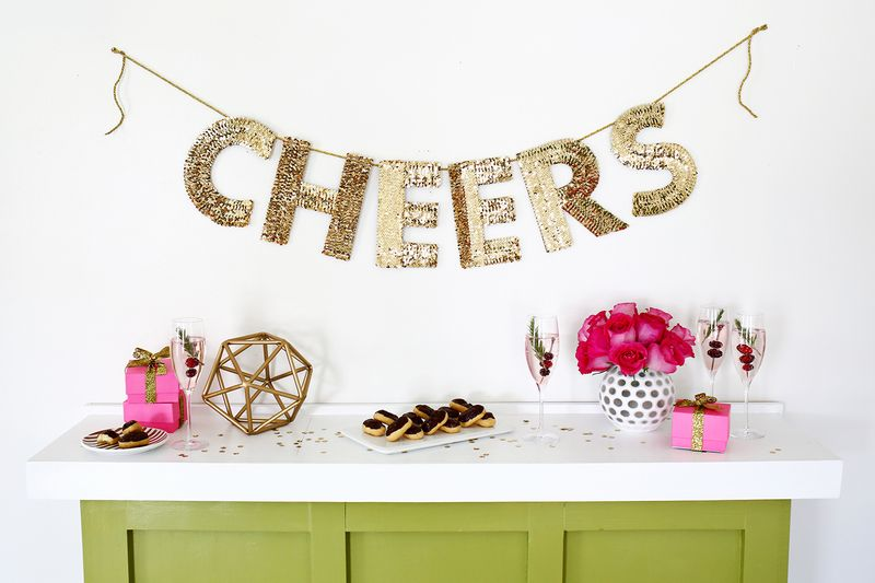 sequin letter garland diy click through for tutorial