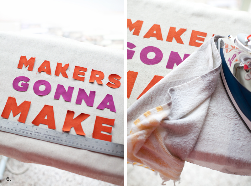 Makers Gonna Make applique pillow— tutorial includes a template