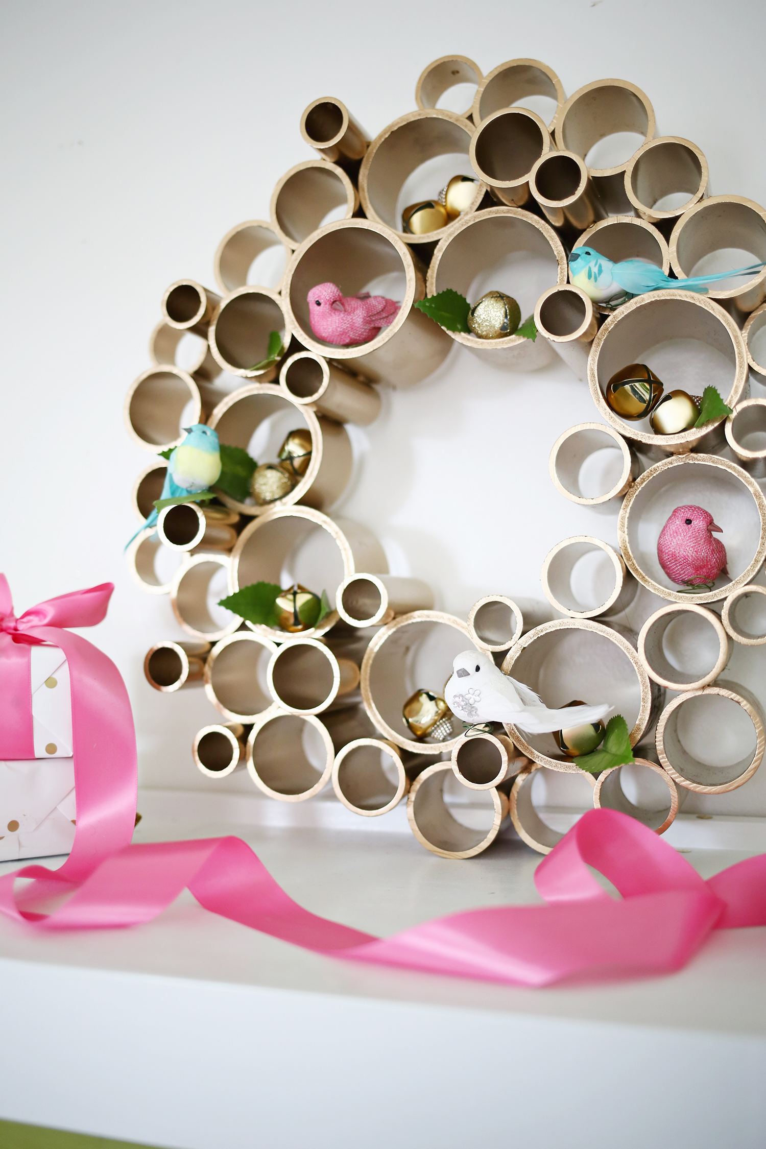 Try this-pvc pipe wreath