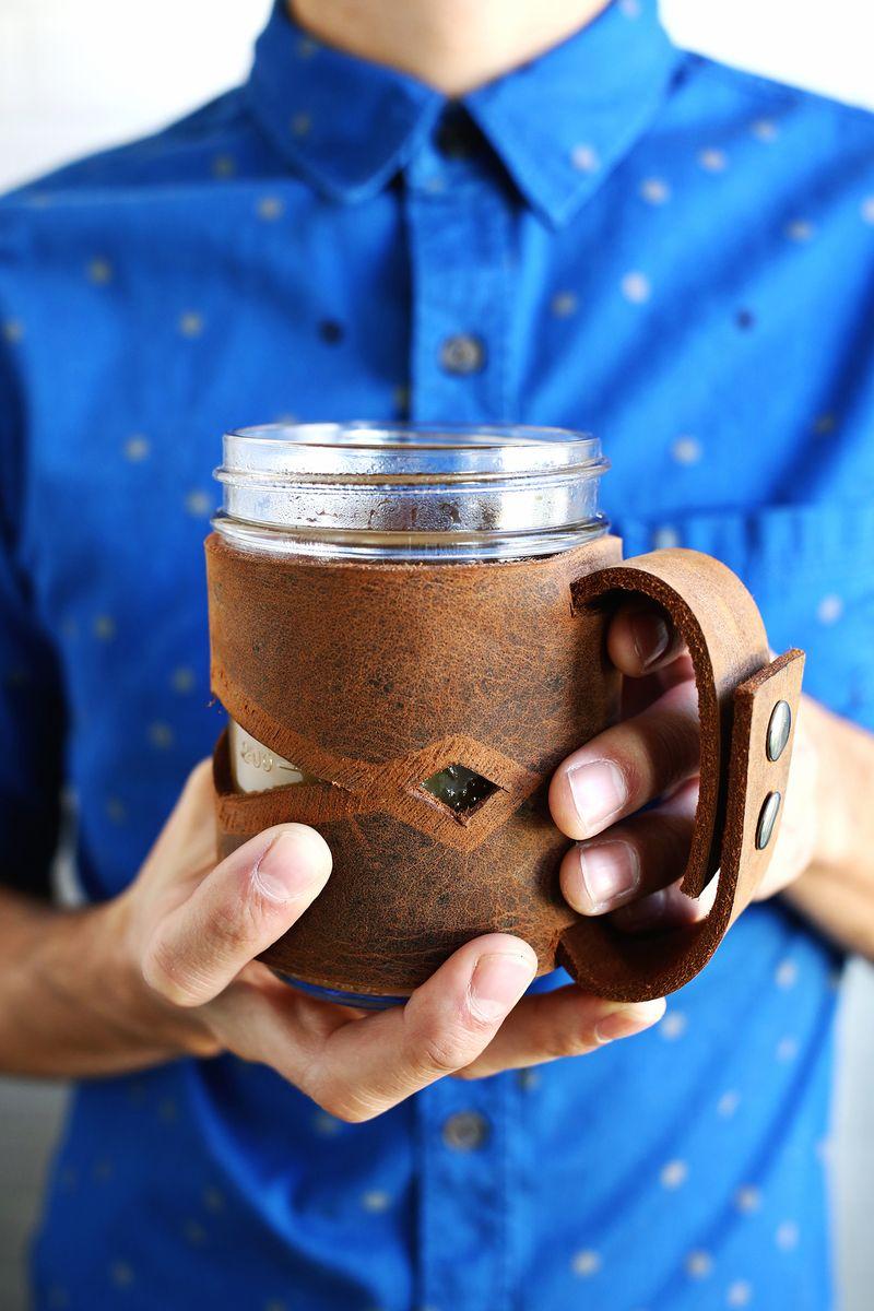 Leather mason jar sleeve giveaway