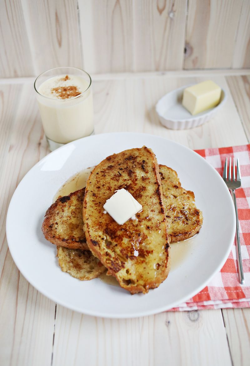 Eggnog French Toast - A Beautiful Mess