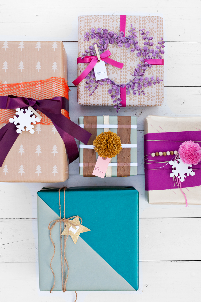 Try this use scraps for creative gift wrapping a for Wrapping present ideas for christmas