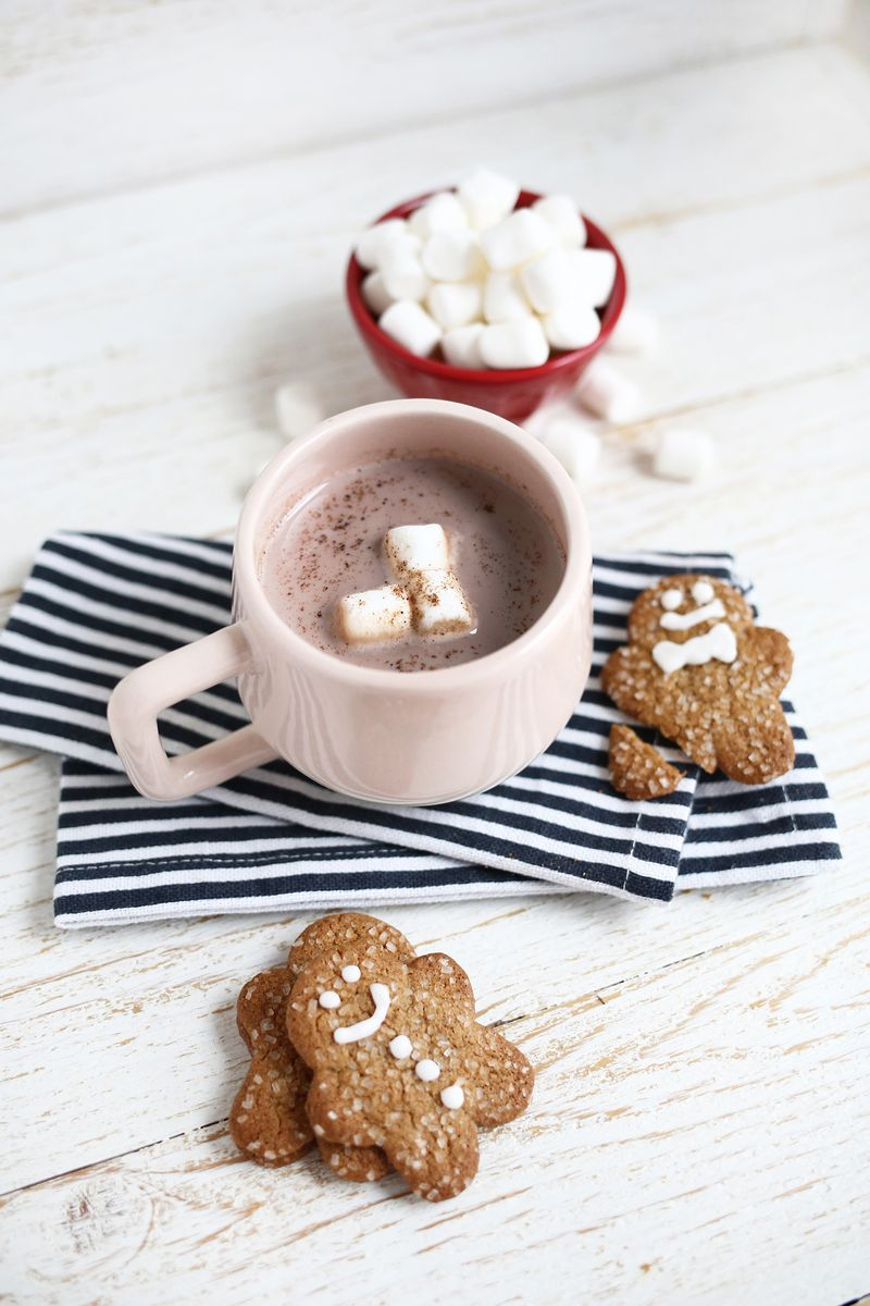 Gingerbread Hot Chocolate—Yes Please! (click through for tutorial)