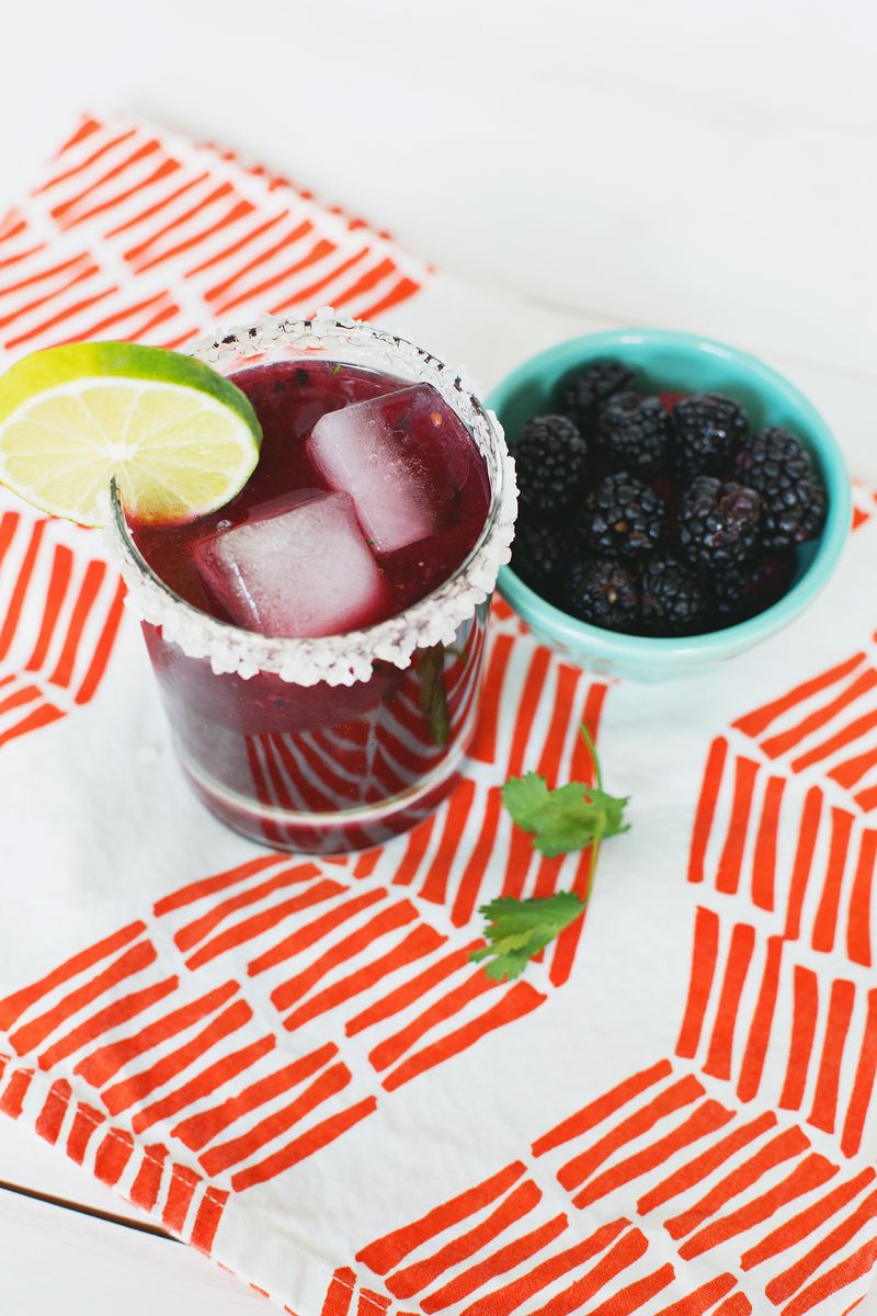 Blackberry cilantro margarita