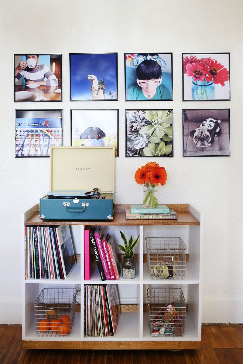Record Frame Instagram Photo Wall A Beautiful Mess