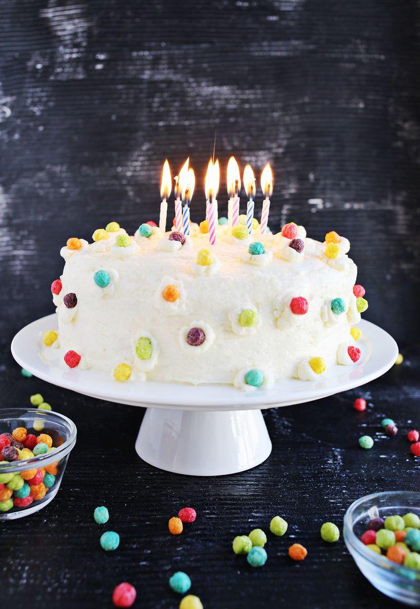 Funfetti Buttermilk Birthday Cake - A Beautiful Mess