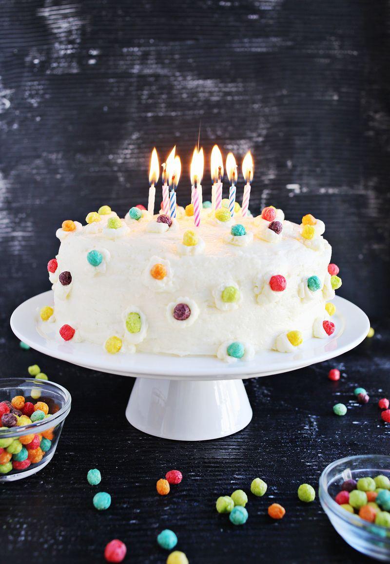 Funfetti Buttermilk Birthday Cake A Beautiful Mess