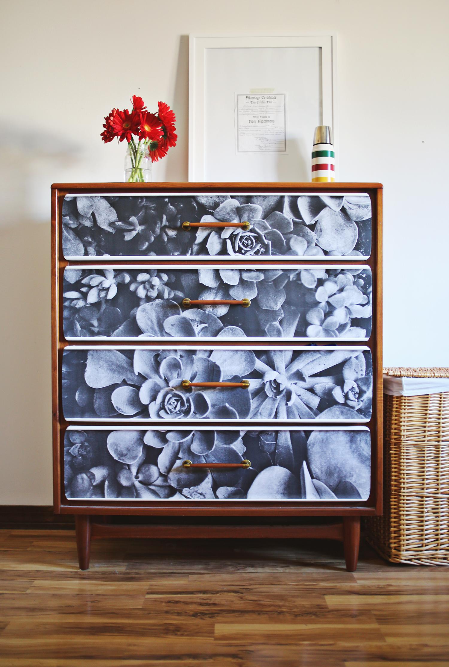 How to Decoupage Furniture (via abeautifulmess.com)