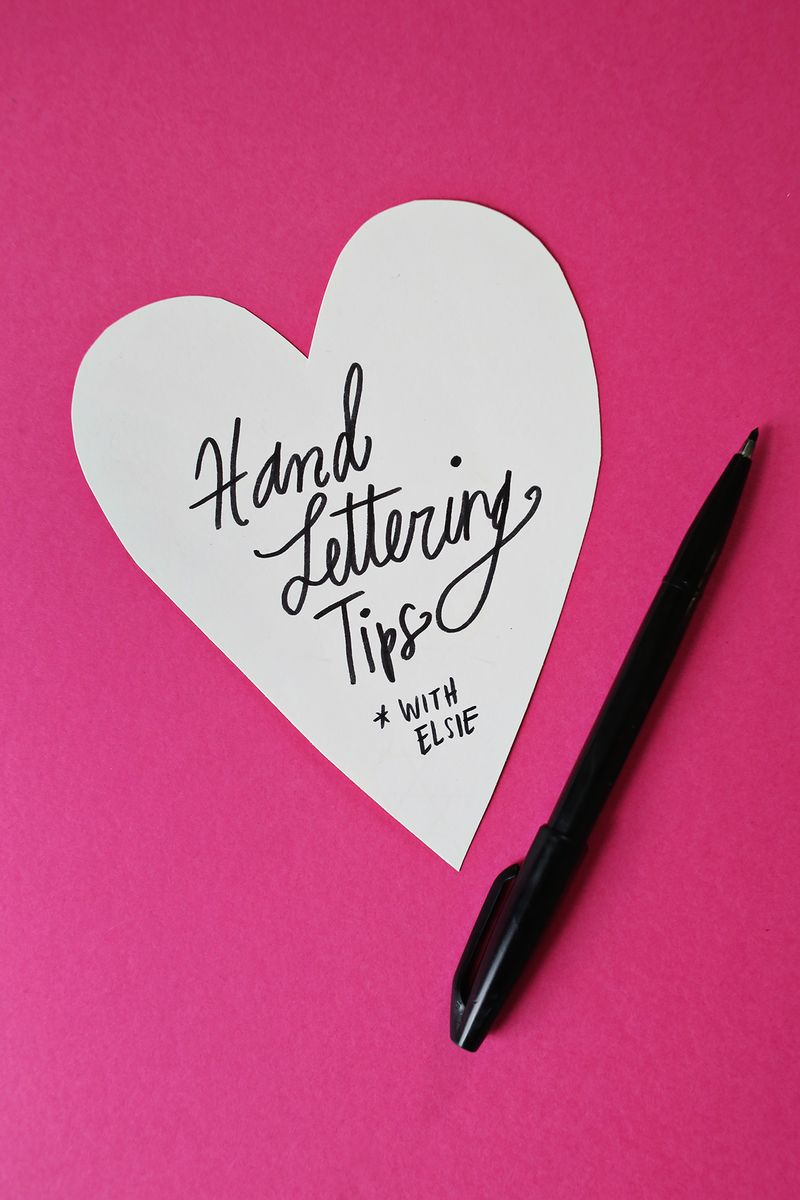 Hand Lettering Tips With Elsie A Beautiful Mess