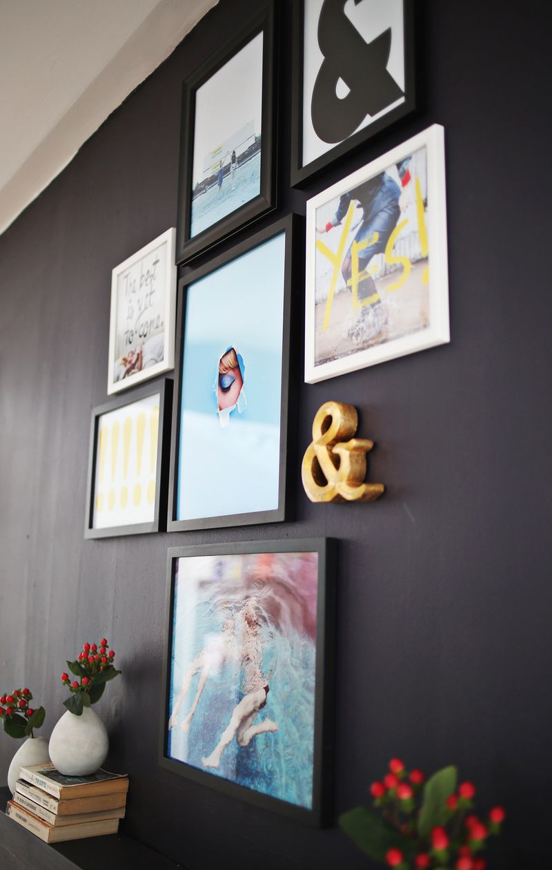 3 fun ideas for making your own art prints (from abeautifulmess.com)