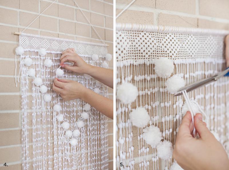 Pom Pom Wall Hanging pom pom wall hanging – a beautiful mess
