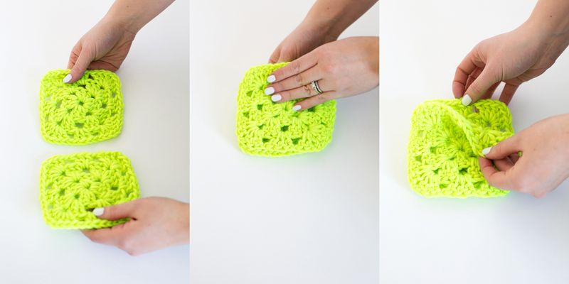 How to join granny squares step 1-3