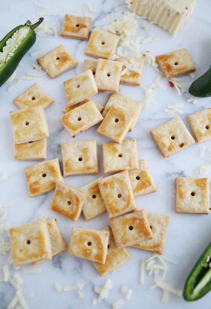 Homemade pepper jack crackers