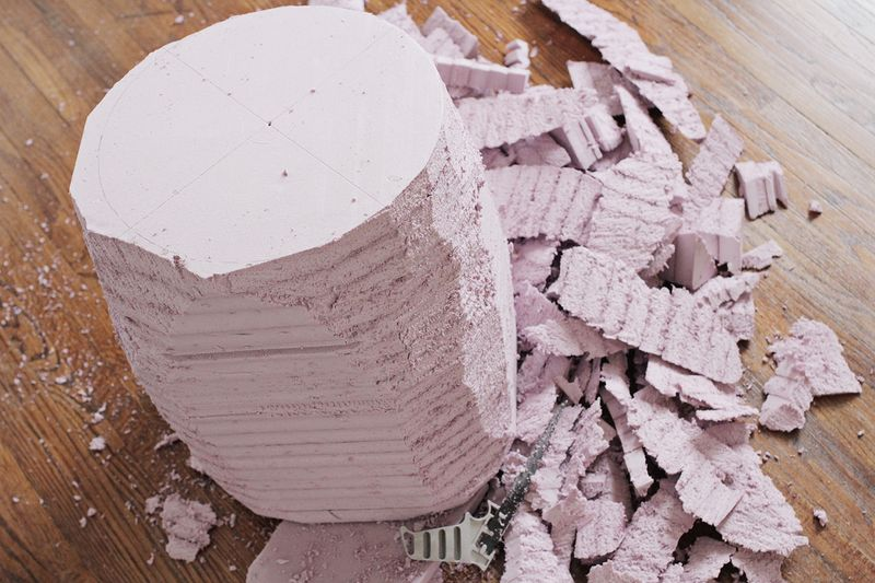 Carve the foam