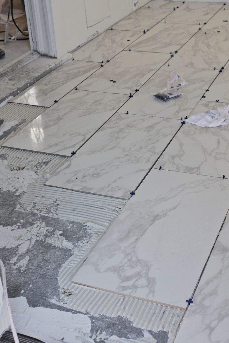 Beginner s guide to laying tile a beautiful mess - How to install ceramic tile on wall ...