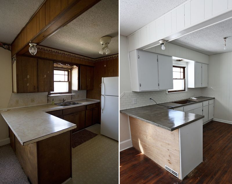Counter tops before and after