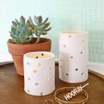 Easy Clay Votive DIY