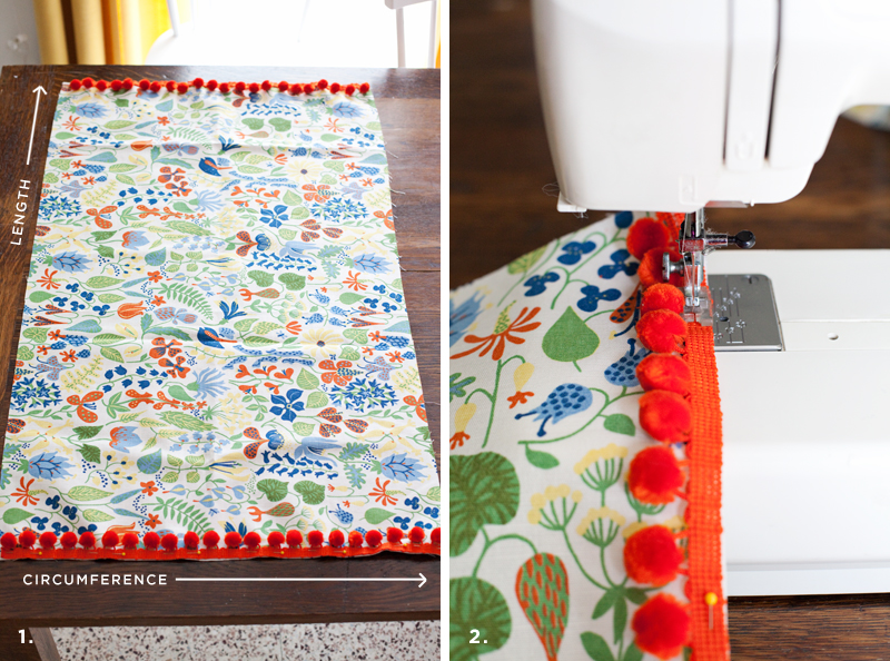 Pattern For Bolster Pillow Cover: How to Make a Bolster Pillow – A Beautiful Mess,
