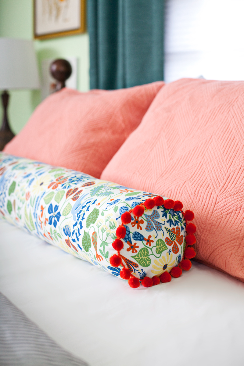 How to make a bolster pillow a beautiful mess Sew bolster pillow cover