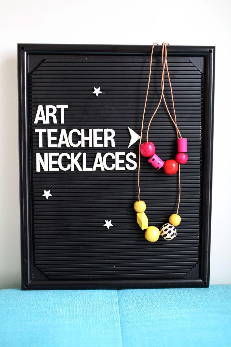 Art teacher necklace