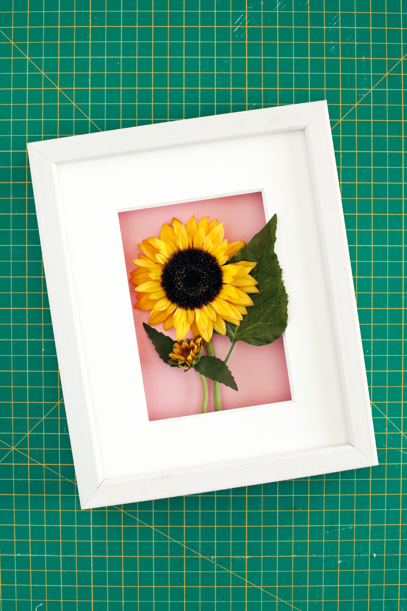 Make these simple floral shadow boxes to give your walls a bold and