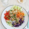 Spring Roll Salad with Spicy Peanut Dressing - May 07, 2015