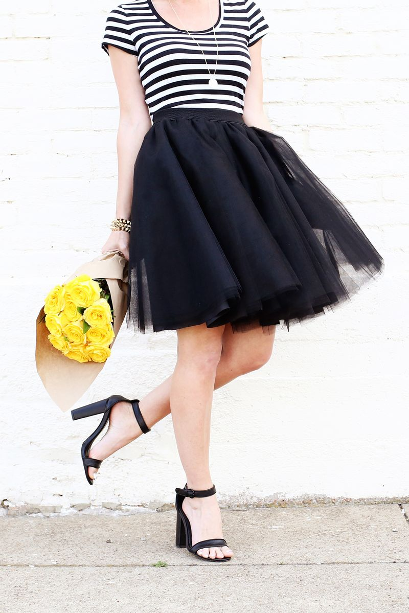 39d2ef096389 Tulle Circle Skirt DIY - A Beautiful Mess