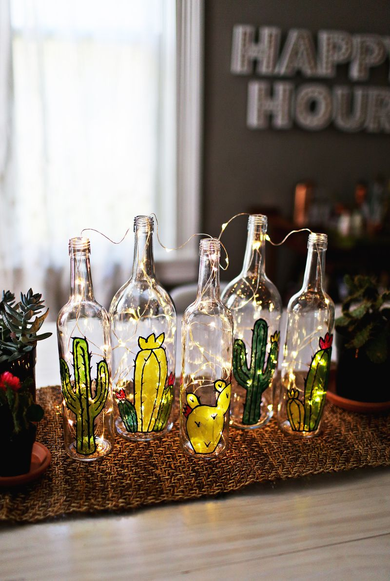 DIY Faux Stained Glass Bottles DIY Faux