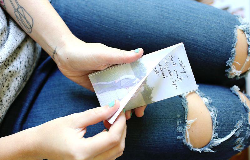 DIY Photo Notepads (tear off edges)