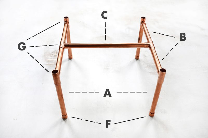 So Cute Copper Pipe Side Table Diy Click Through For Tutorial
