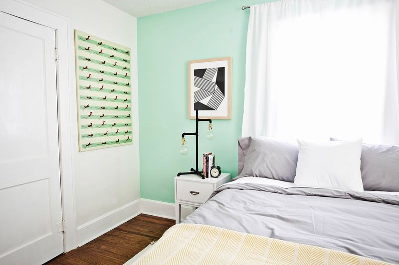 Bedroom Before And After Mint Bedroom ...