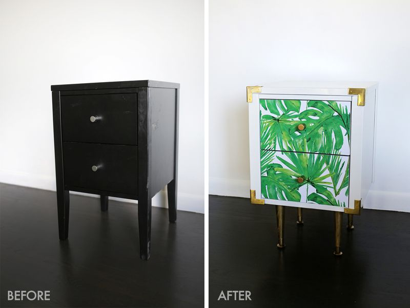 Too cute! nightstand table makeover (click through to see more!)